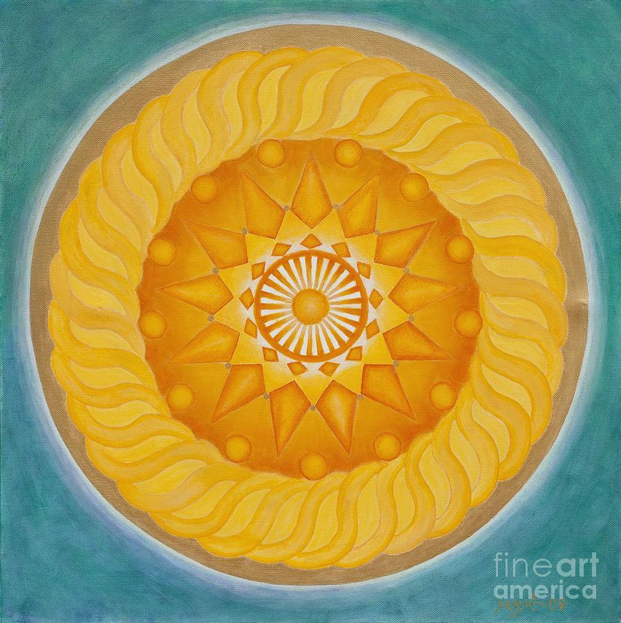 Mandala Painting - Blessed Sun by Mayki Wiberg