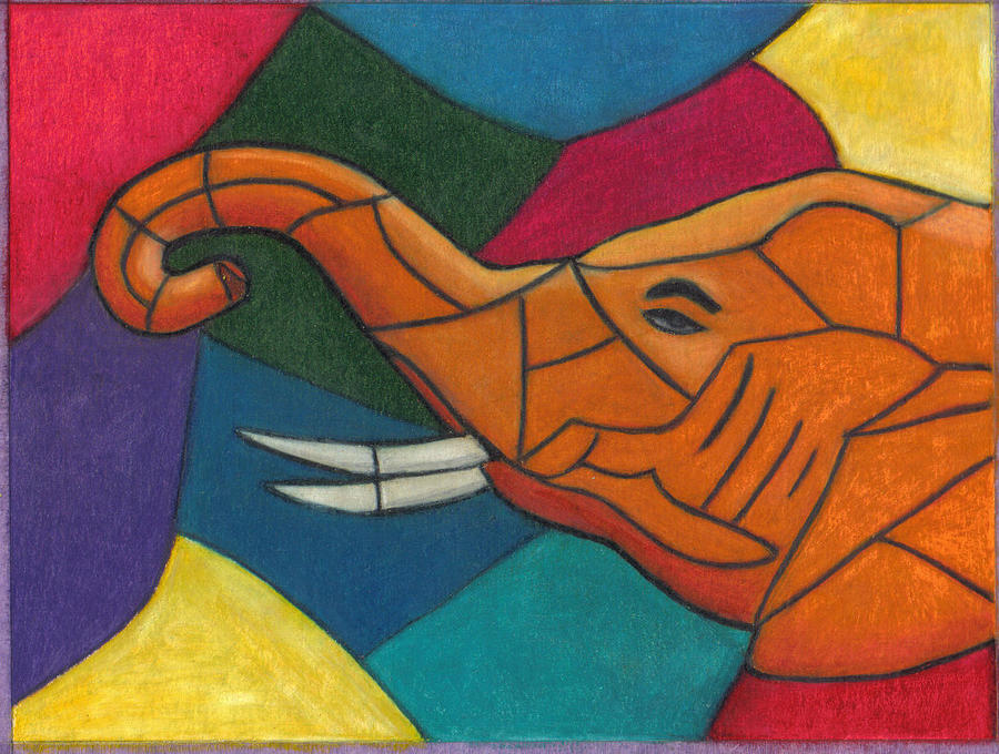 Elephant Drawing - Blessing by Ekta Gupta