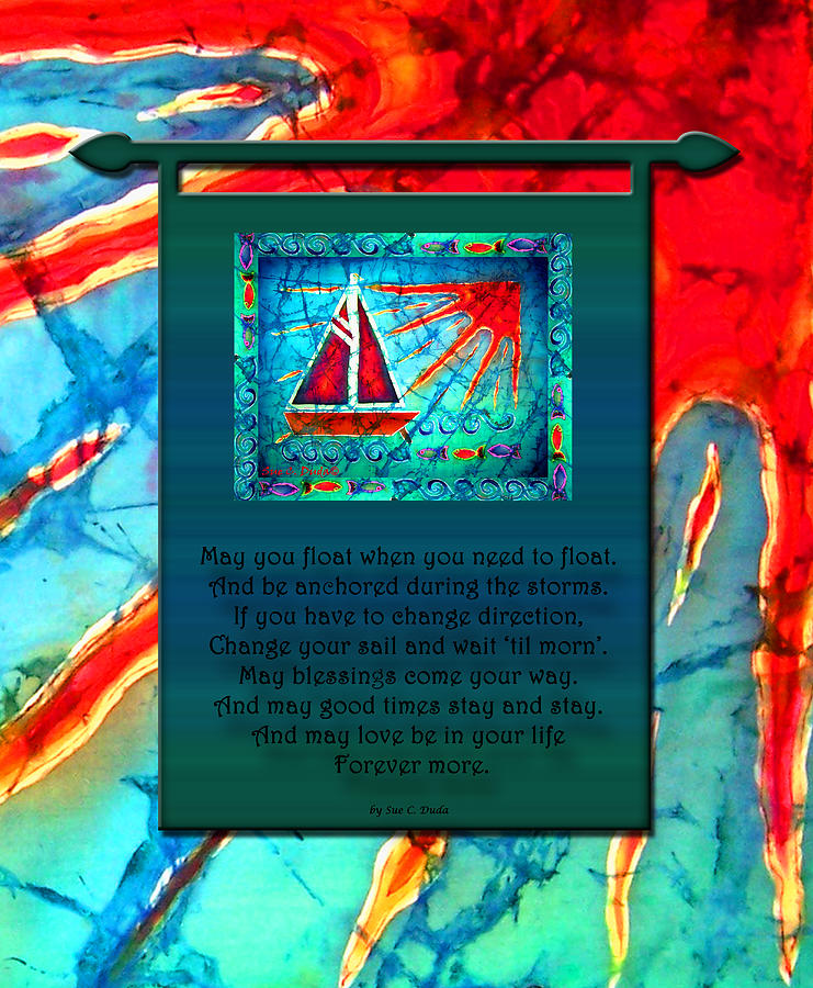 Prayer Painting - Blessings 1 by Sue Duda