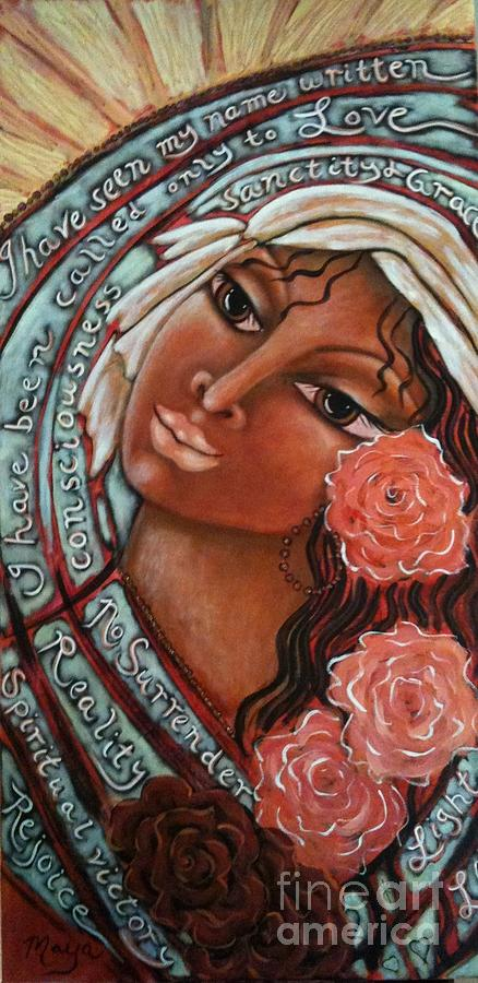 Contemporary Symbolism Painting - Blessings Of The Magdalene by Maya Telford