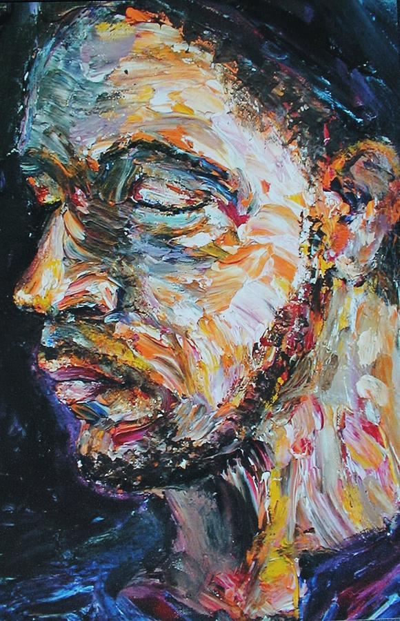 Figurative Painting - Blind Beggar by Carl Geenen