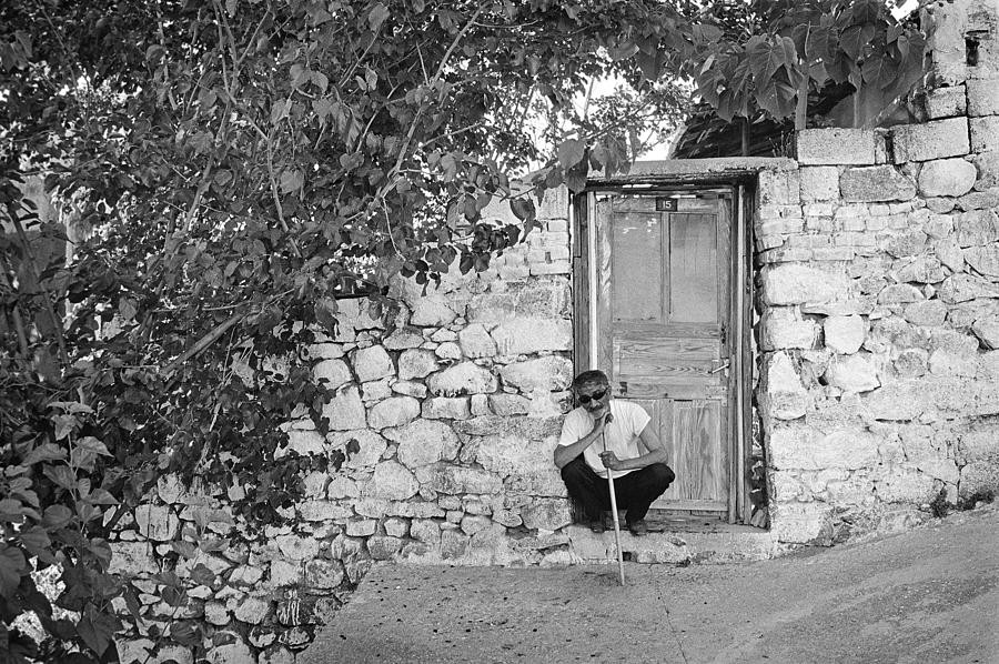 Street Photography Photograph - Blind Man And His House by Ilker Goksen