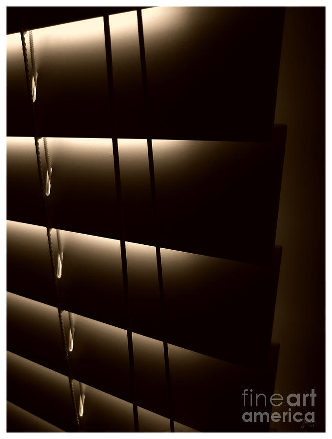 Window Photograph - Blinds by Jeff Breiman