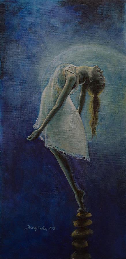 Meditation Painting - Bliss by Dorina  Costras