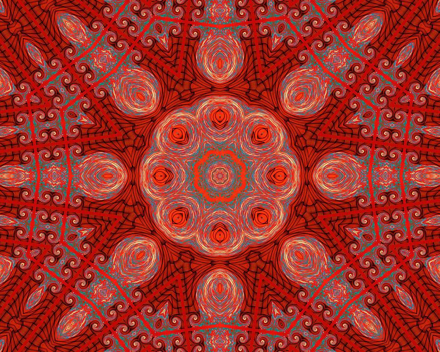 Kaleidoscope Digital Art - Bliss In The Formal Gardens by Wendy J St Christopher
