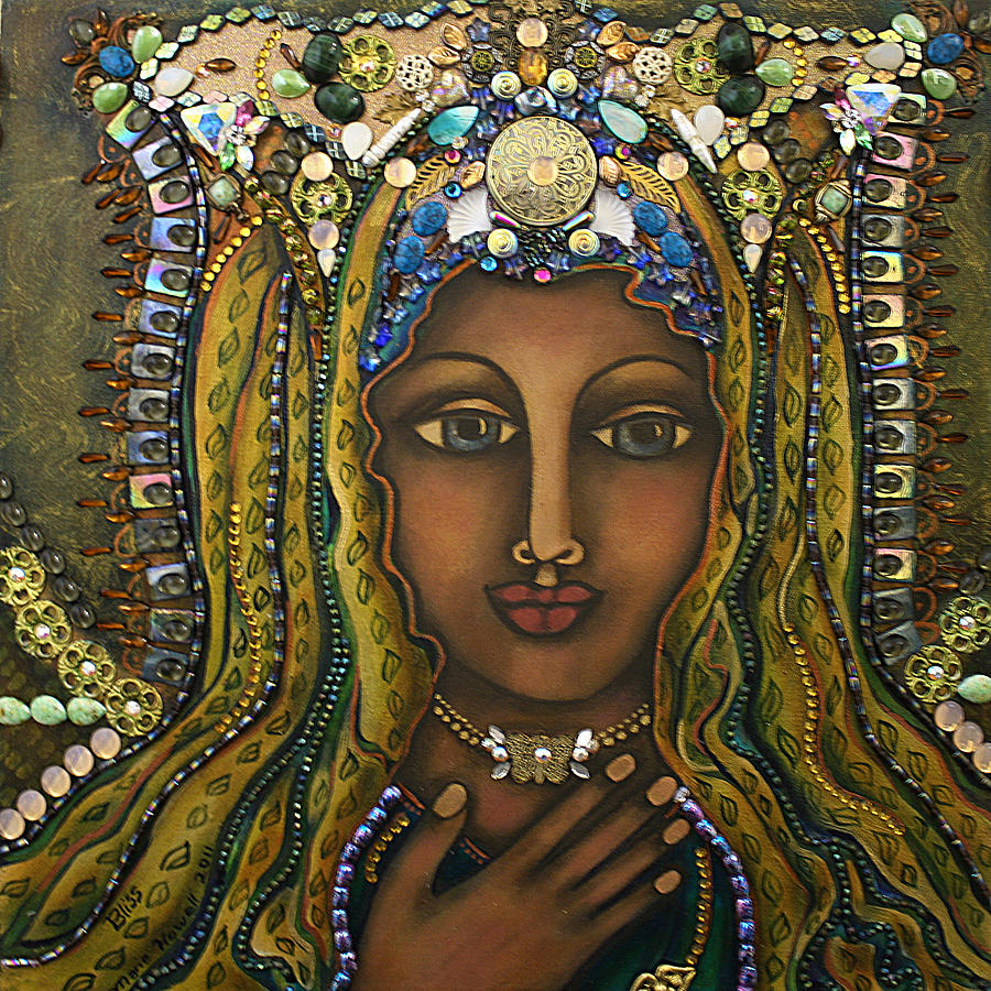 Sacred Feminine Painting - Bliss by Marie Howell Gallery
