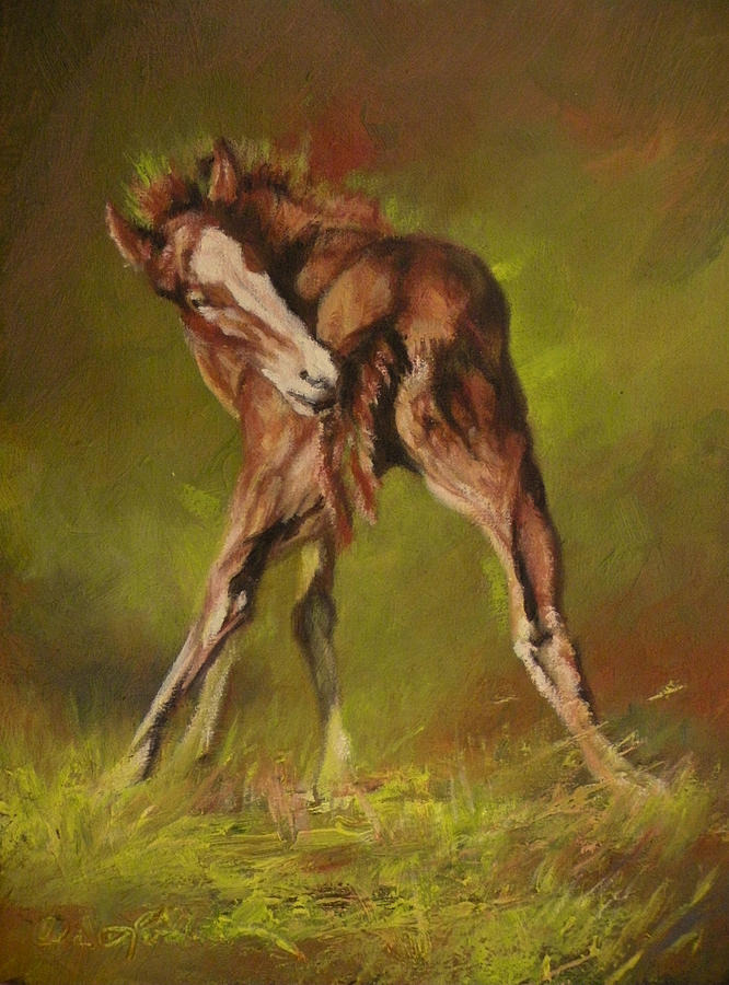 Colts Painting - Bliss by Mia DeLode