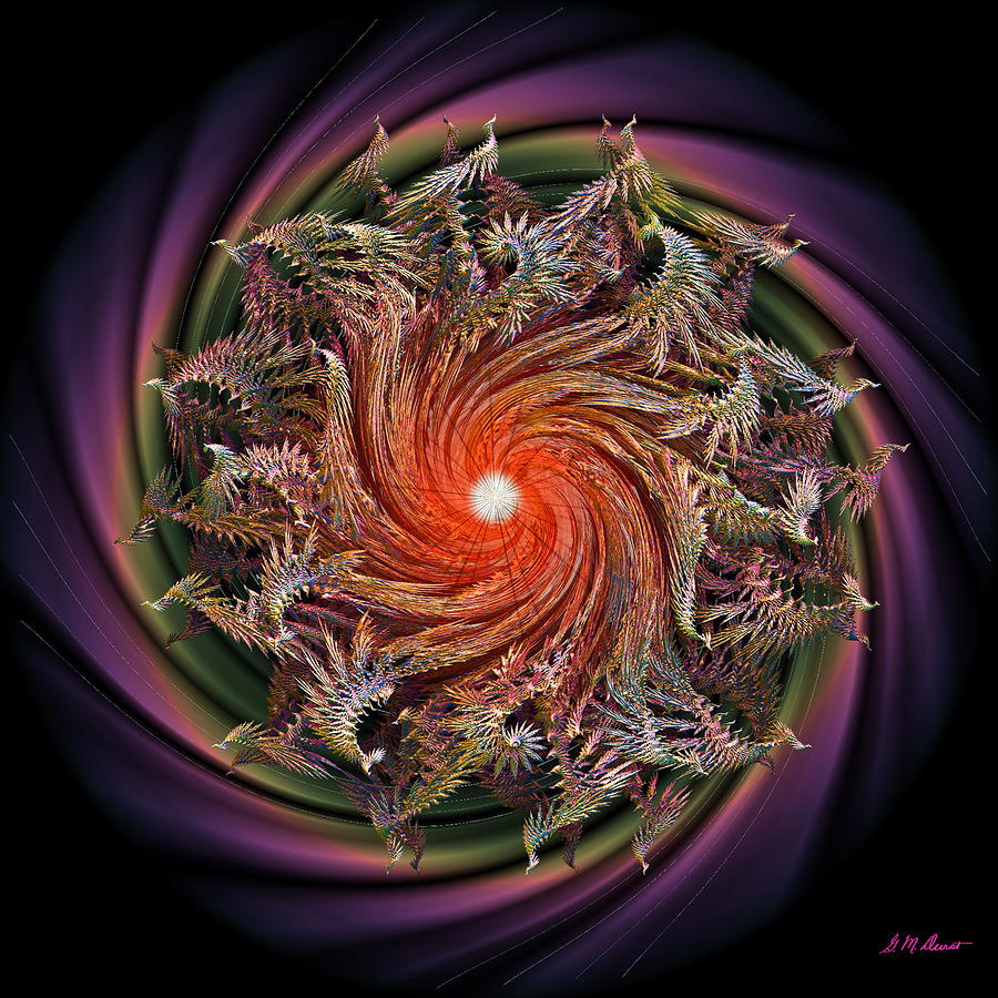 Fractal Digital Art - Bliss by Michael Durst