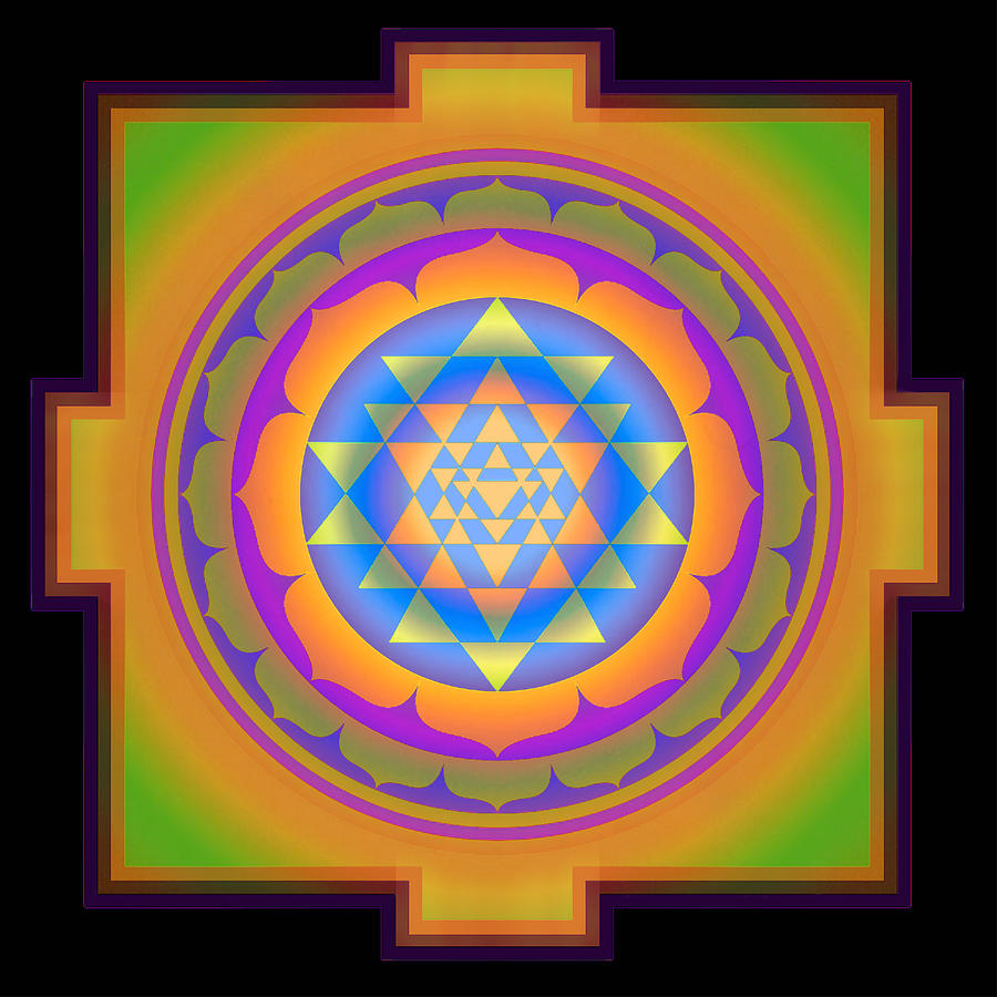 Yoga Poster Digital Art - Bliss Yantra by Svahha Devi