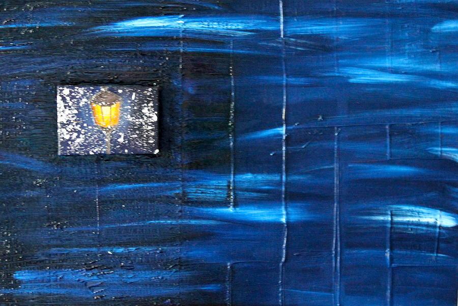 Winter Painting - Blizzard by Margarita Gokun