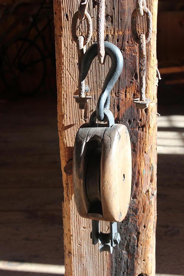 Block And Tackle Photograph - Block And Tackle 3 by Mary Bedy