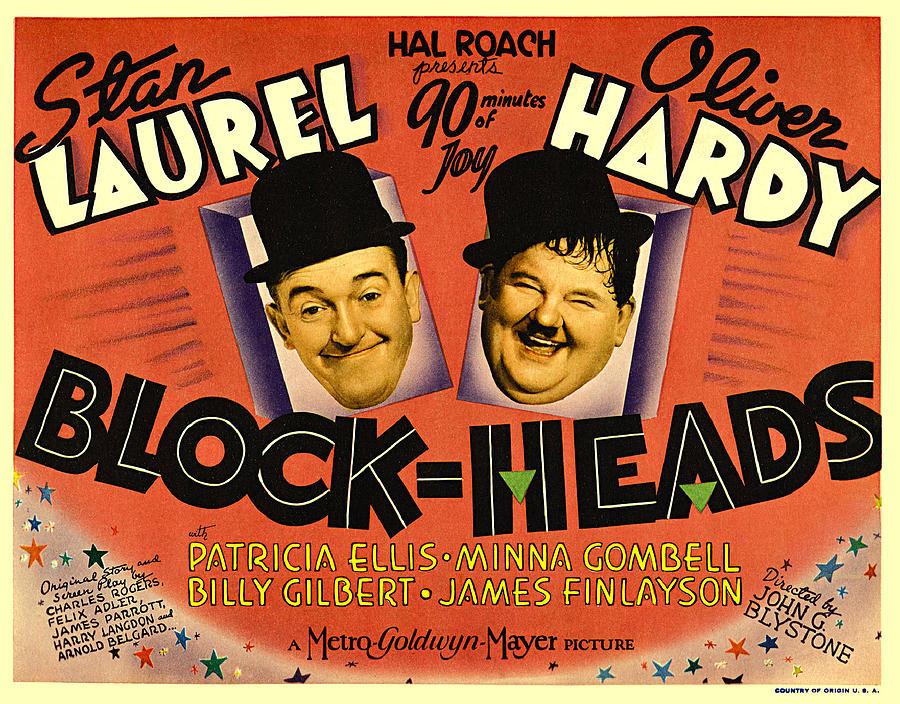 Laurel And Hardy Digital Art - Block Heads by Studio Release