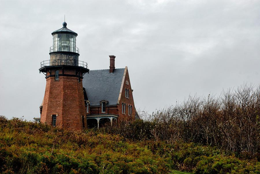 Block Island Photograph - Block Island Southeast Lighthouse by Nancy De Flon