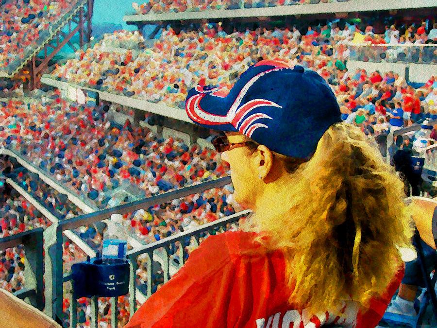 Baseball Photograph - Blonde At The Ballgame by Alice Gipson