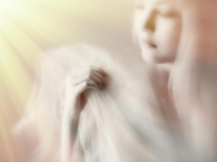 Hand Photograph - Blonde Beauty by Mel Brackstone