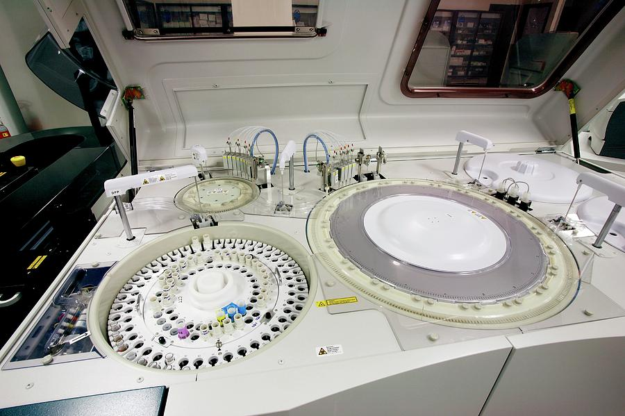 Equipment Photograph - Blood Centrifuge by Mauro Fermariello/science Photo Library