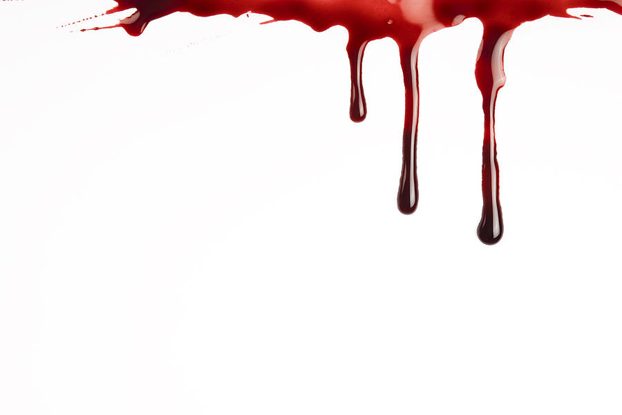 Blood Dripping Photograph by Redhumv