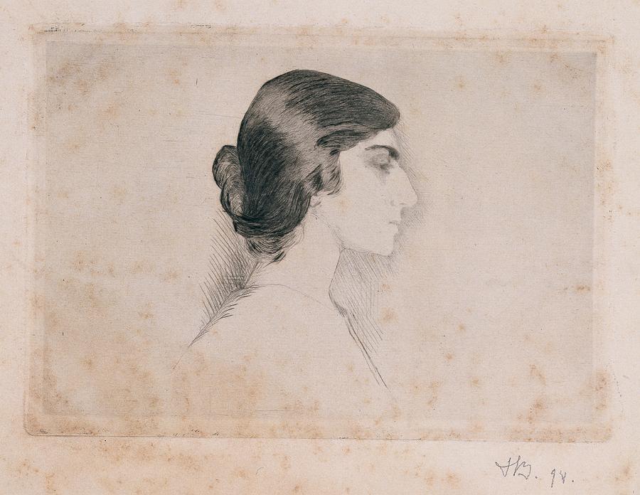 Self Portrait Photograph - Blood Florence, Self-portrait, 1898 by Everett