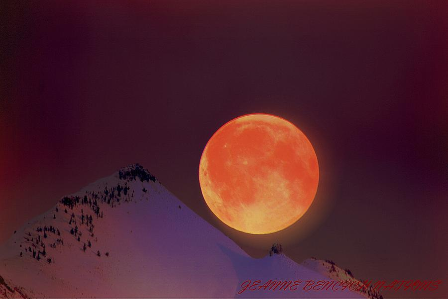 Blood Red Moon Photograph - Blood  Moon  by Jeanne  Bencich-Nations