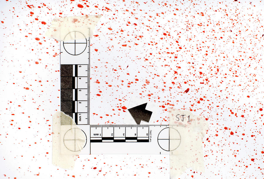 Blood Spatter Analysis Photograph By Jim Varney Science Photo Library
