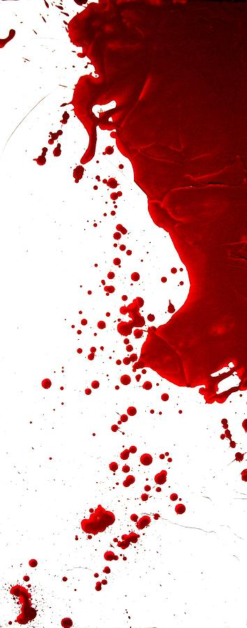 True Blood Painting - Blood Splatter  by Holly Anderson