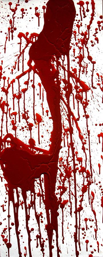 True Blood Painting - Blood Splatter II by Holly Anderson