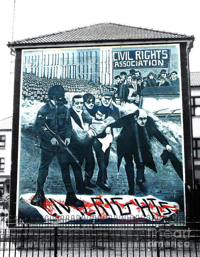 Bloody sunday mural photograph by nina ficur feenan for Bloody wall mural