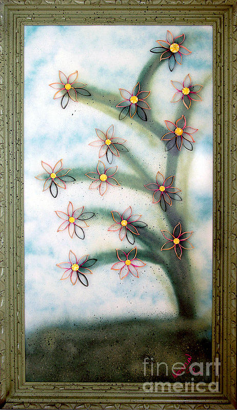 Abstract Relief - Bloom And Re-bloom by Crush Creations