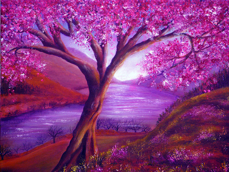 Landscape Painting - Bloom by Ann Marie Bone