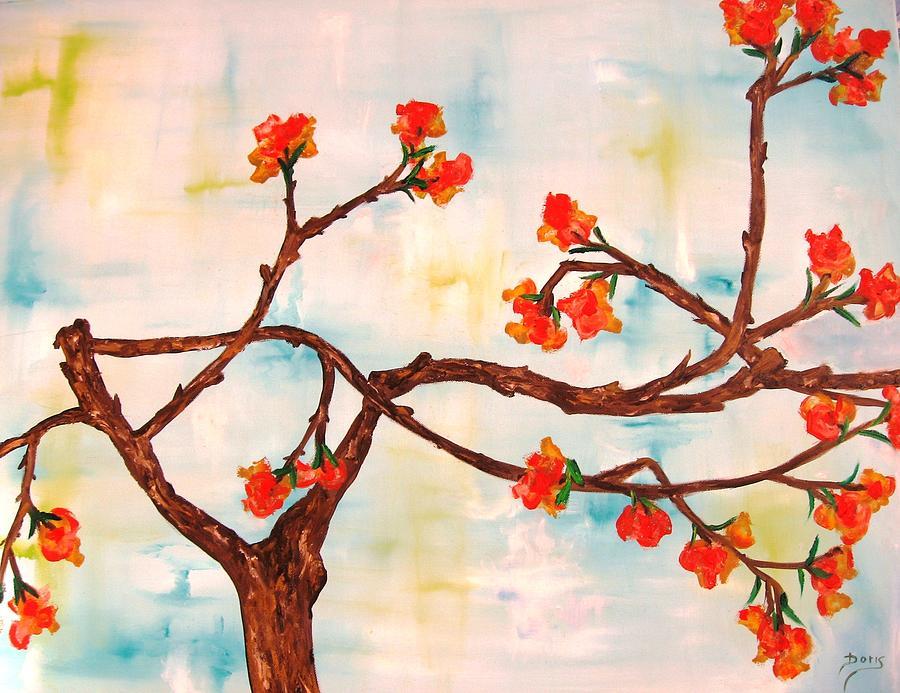 Flower Paintings Painting - Bloom by Doris Cohen