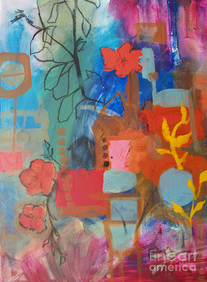 House Painting - Bloom Where You Are by Robin Maria Pedrero