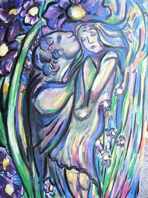 Female Painting - Bloomed by Dawn Fisher