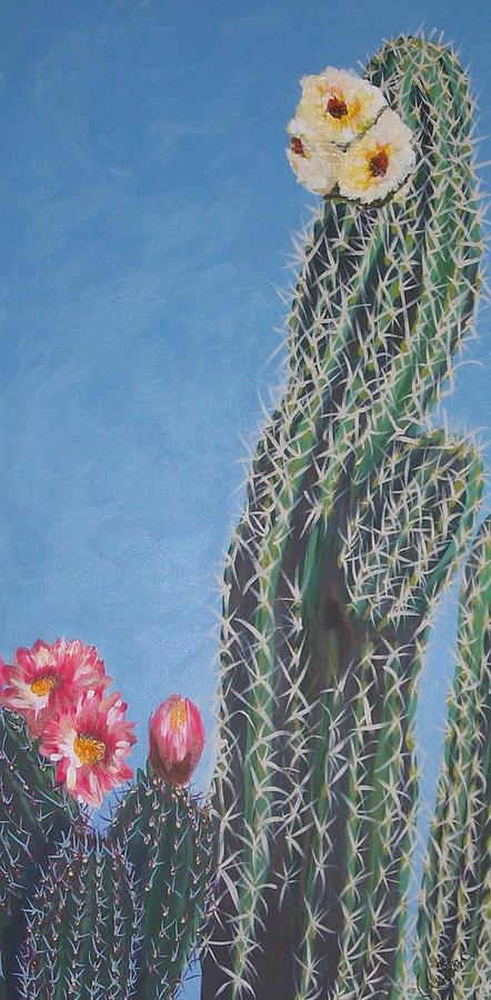 Cacti Painting - Bloomin Cactus by Marcia Weller-Wenbert