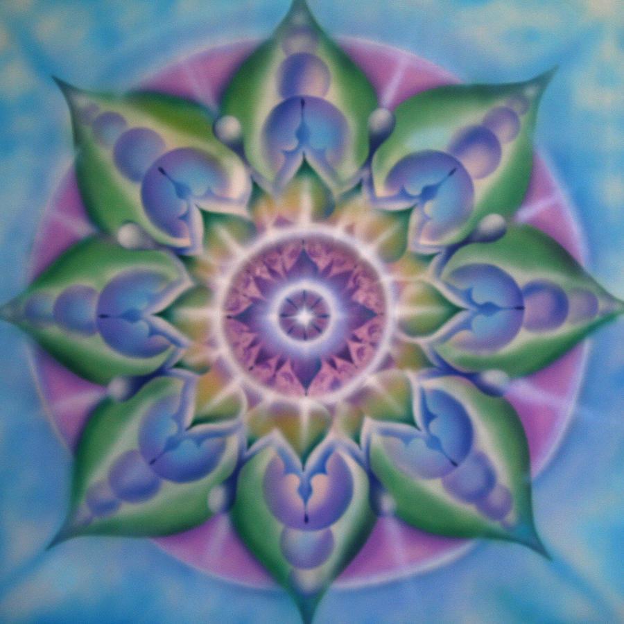 Mandala Painting - Blooming by Elizabeth Zaikowski