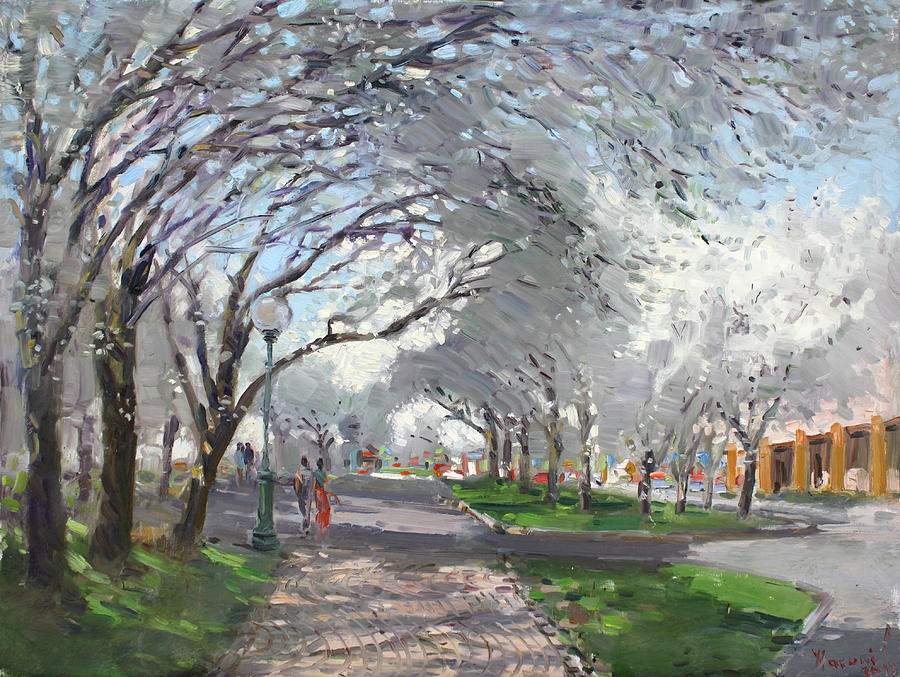 Blooming Trees Painting - Blooming In Niagara Park by Ylli Haruni