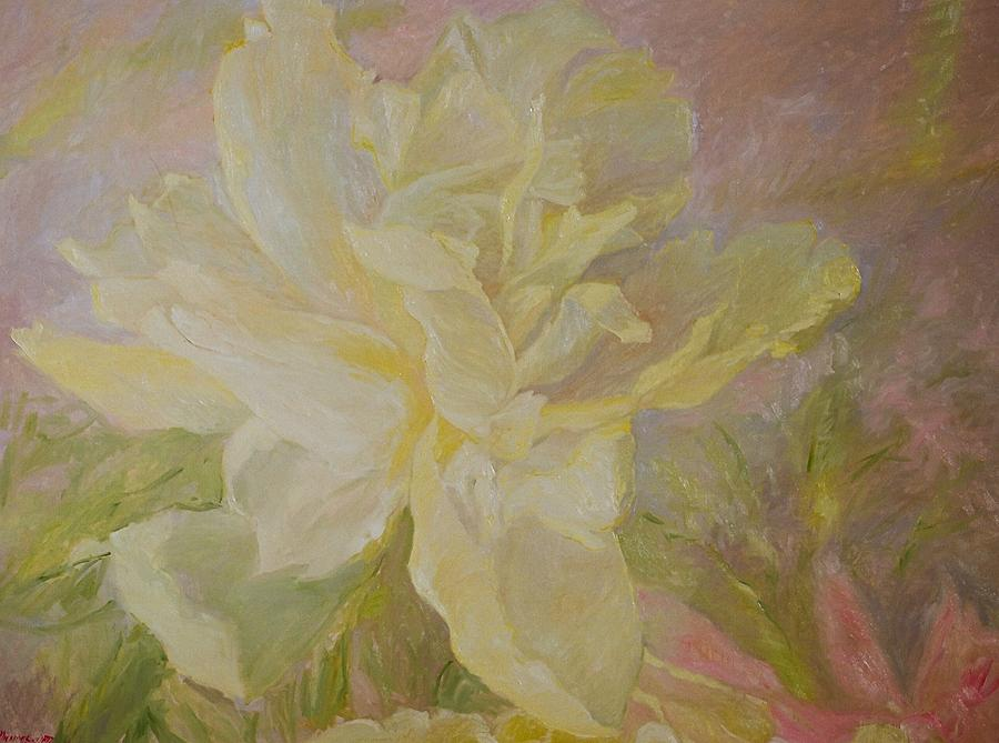 Flowers Painting - Blooming Peony by J Michael Orr
