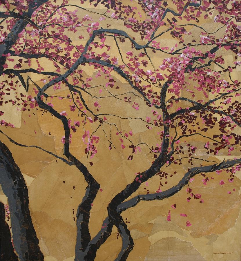 Tree Painting - Blooming Prairie Fire by Leah  Tomaino