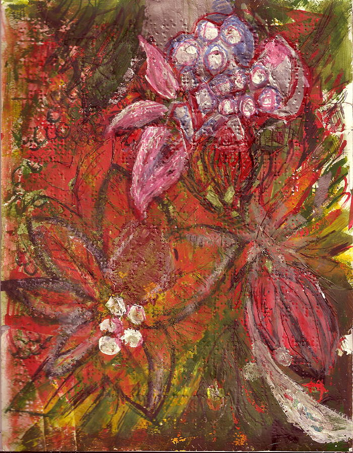 Braille Paper Painting - Blooming Season I by Anne-Elizabeth Whiteway