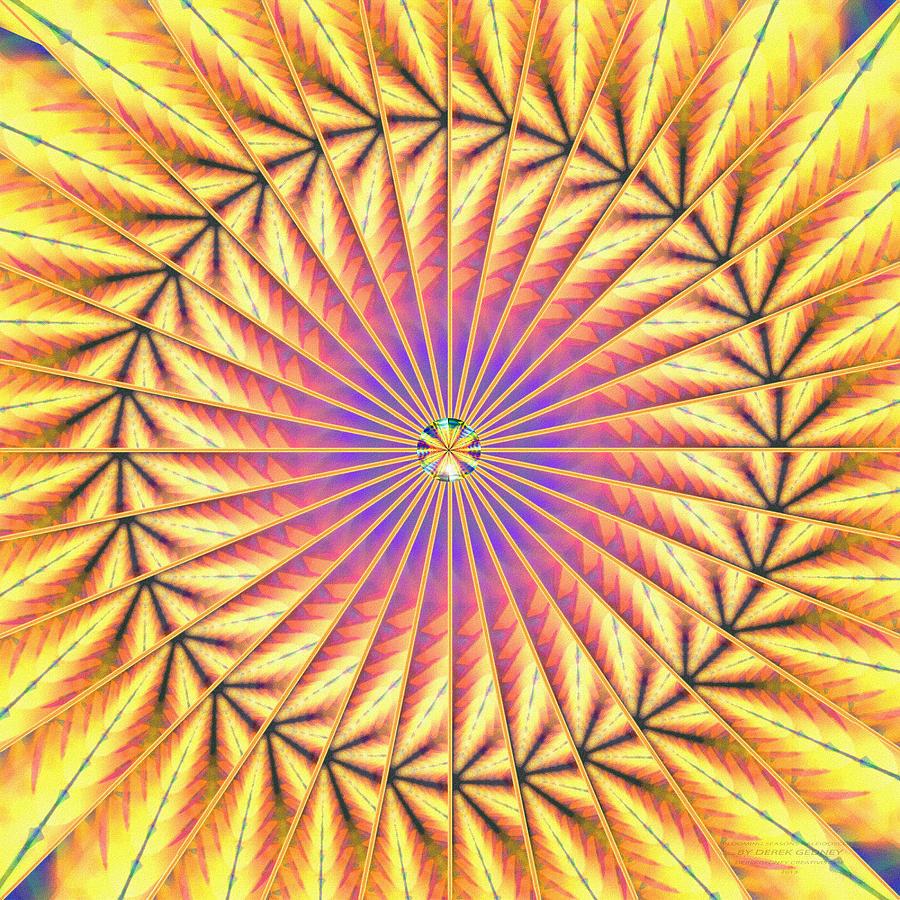 Sacredlife Mandalas Drawing - Blooming Seasons Kaleidoscope by Derek Gedney