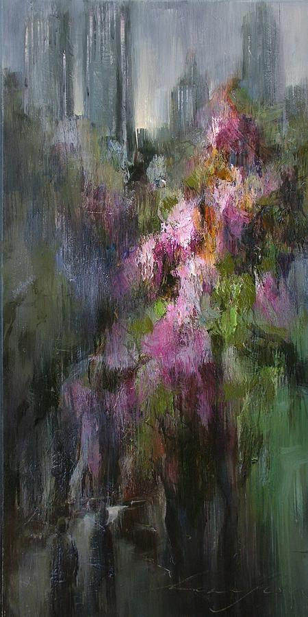 Artwork Painting - Blooming Spring In Central Park by Andras Manajlo