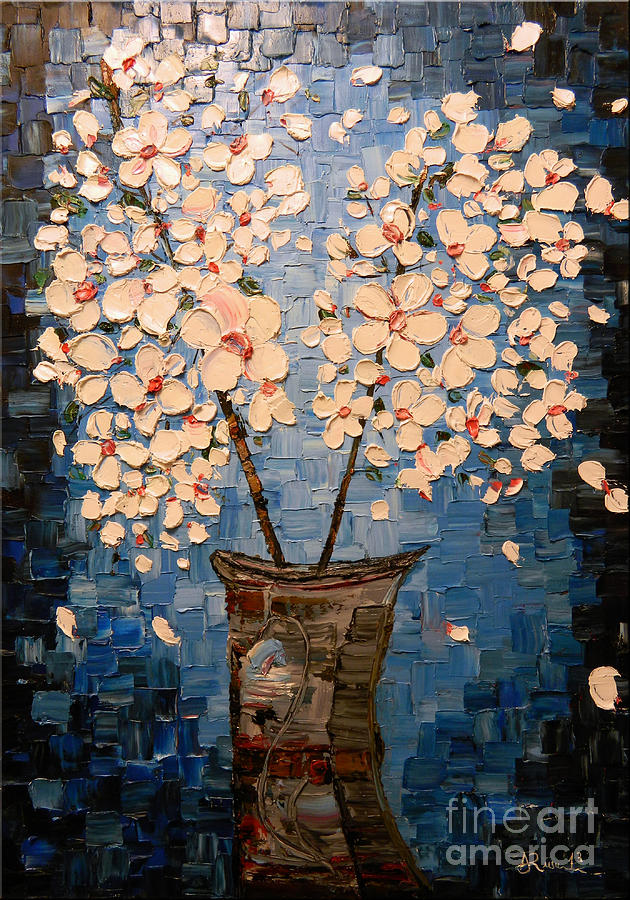 Painting Painting - Blossom Bouquet by Alexandru Rusu
