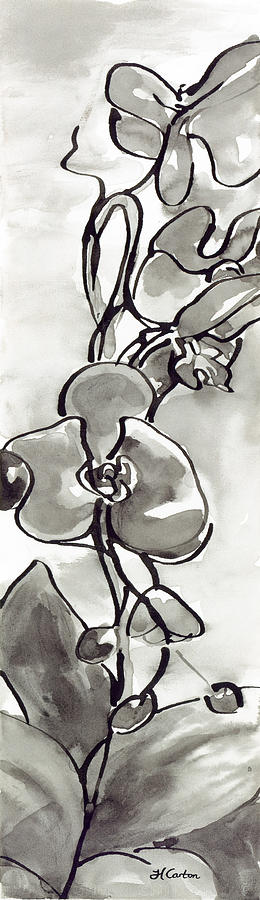 Ink Wash Painting - Blossom by Holly Carton