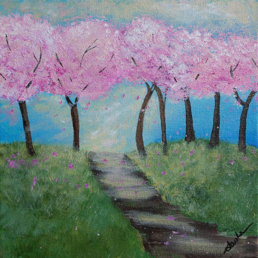 Cherry Blossoms Painting - Blossoming by Sasha Moye