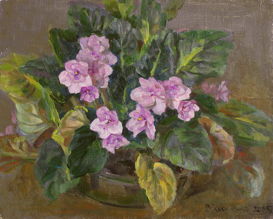 Flower Painting - Blossoming Violet by Victoria Kharchenko