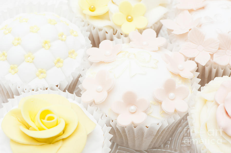 Cupcake Photograph - Blossoms And Bows Cupcake by Anne Gilbert