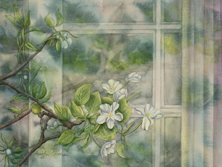 Blossoms Painting - Blossoms Inside and Out by Heather Gallup
