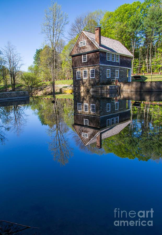 Cornish Photograph - Blow Me Down Mill Cornish New Hampshire by Edward Fielding