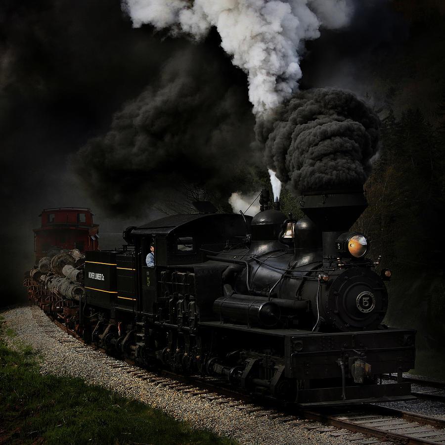 Steam Photograph - Blow That Whistle by Chuck Gordon