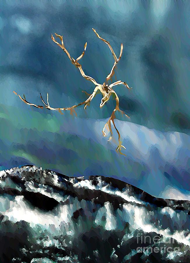 Abstract Digital Art - Blown Away To Sea by Sarah Loft