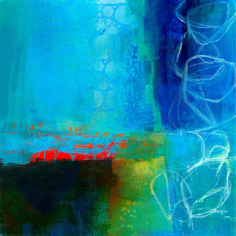 Blue Painting - Blue #2 by Jane Davies